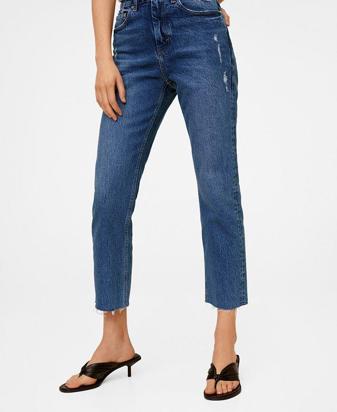 MANGO Straight Crop Jeans