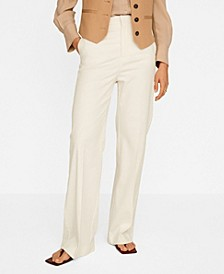 Women's Linen High-Waist Pants
