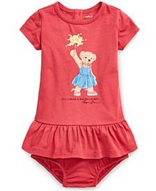 Baby Girls Cotton Polo Bear T-Shirt Dress