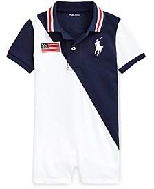 Baby Boys Cotton Polo Shortalls