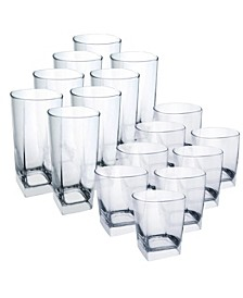 Sterling Tumblers 16 Piece Glassware Set