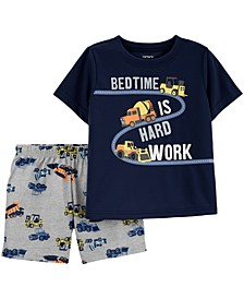 Toddler Boy's 2-Pc. Construction Pajamas Set