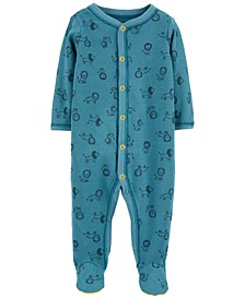 Baby Boys 1-Pc. Lion-Print Cotton Coverall