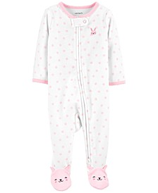 Baby Girls Bunny Footed Pajamas