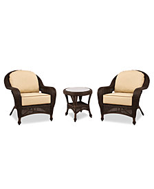 Monterey Outdoor 3-Pc. Set (2 Club Chairs & 1 End Table), Created for Macy's