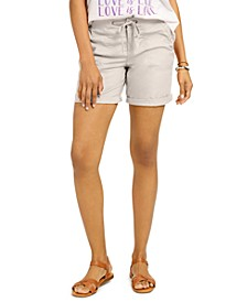 Petite Knit Waistband Shorts, Created for Macy's