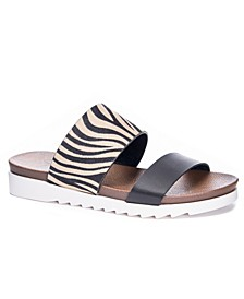 Women's Coastline Two-Band Slide Dress Sandals