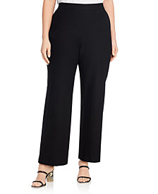 Eileen Fisher System Stretch Crepe Straight Pants