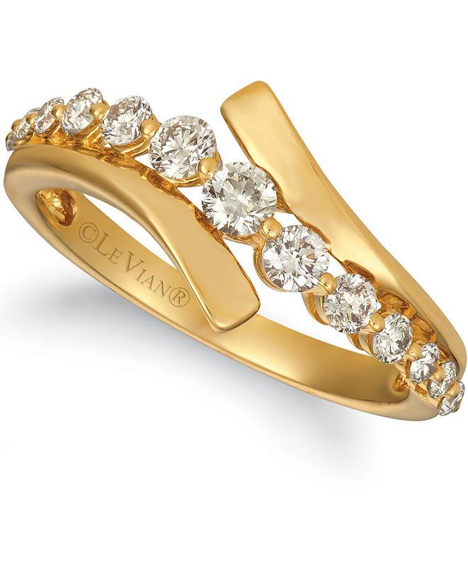 Le Vian Nude Diamond Ring 1 ct tw Round-cut 14K Honey Gold