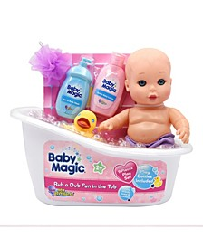 Rub a Dub Fun in the Tub 9 Piece Play Set with Play Baby Doll