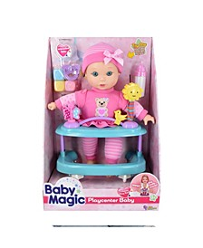 Playcenter Baby 7 Piece Set with Toy Interactive Baby Doll