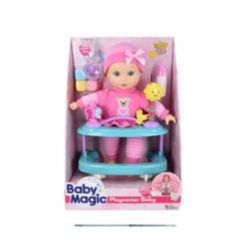 Baby Magic Playcenter Baby 7 Piece Set with Toy Interactive Baby Doll