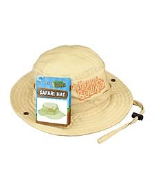 Nature Bound Kids Explorer Khaki Safari Hat with Drawstring