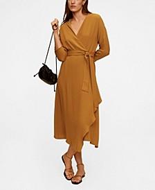Wrapped Midi Dress