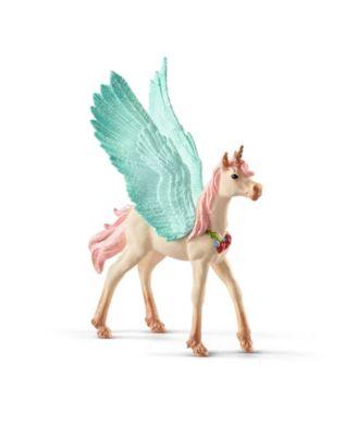 Schleich, Bayala, Decorated Unicorn Pegasus Foal toy Figurine