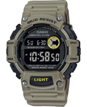 Men's Digital Khaki Resin Strap Watch 48.4mm