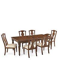 Orle Dining 7 pc Set  (Dining Table & 6 Side Chairs), Created for Macy's