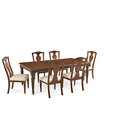 Orle Dining Furniture 7 pc Set  (Dining Table & 6 Side Chairs), Created for Macy's