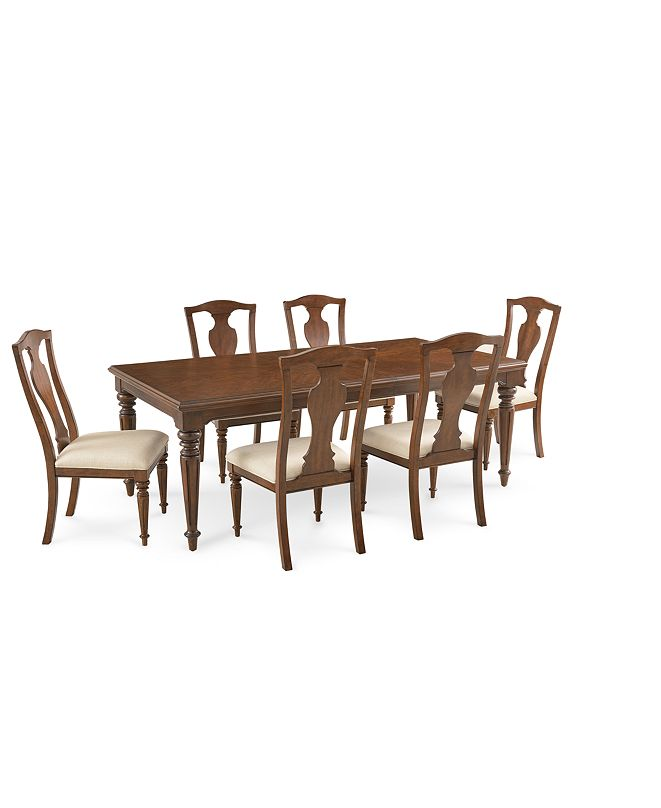 Furniture Orle Dining Furniture 7 pc Set  (Dining Table & 6 Side Chairs), Created for Macy's