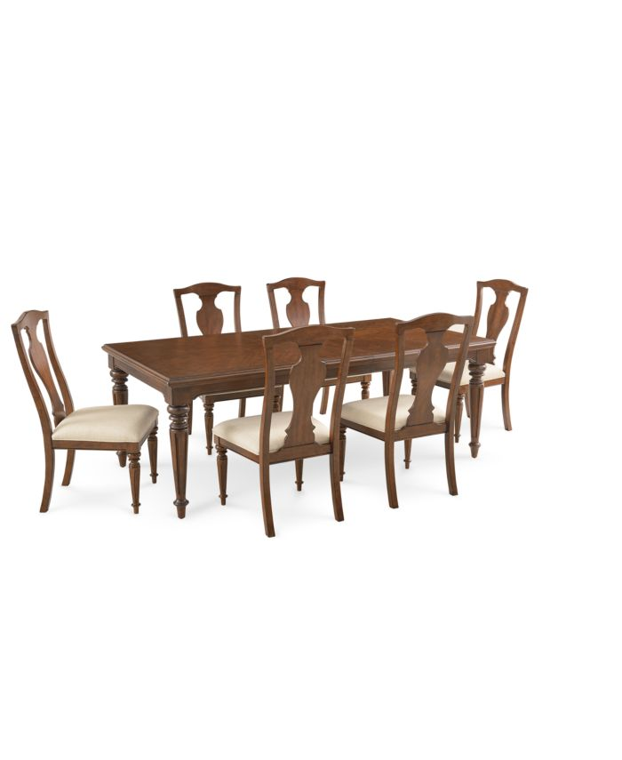 Furniture Orle Dining Furniture 7 pc Set  (Dining Table & 6 Side Chairs), Created for Macy's & Reviews - Furniture - Macy's