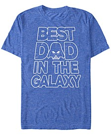 Men's Star Wars Vader Father's Day Galaxy's Best Short Sleeve T-shirt
