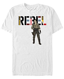 Men's Star Wars The Rise of Skywalker Rebel Rose Short Sleeve T-shirt