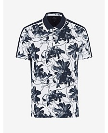 Men's Tropical Print Polo T-shirt