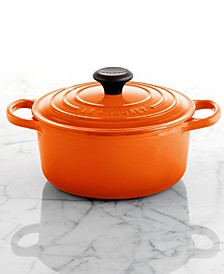 Signature Enameled Cast Iron 1-Qt. Round French Oven
