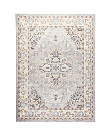 "Barnes Bar03 Gray and Ivory 5'3"" x 7'3"" Area Rug"