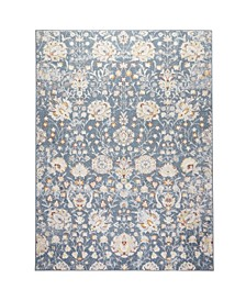 "Barnes Bar02 Blue 9'2"" x 12'5"" Area Rug"