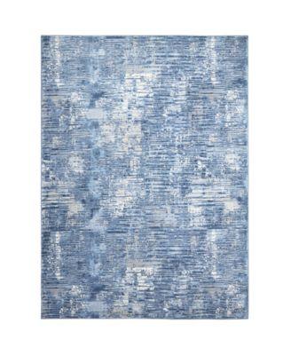 """Barstow Bar02 Blue 7'10"""" x 10'2"""" Area Rug"""