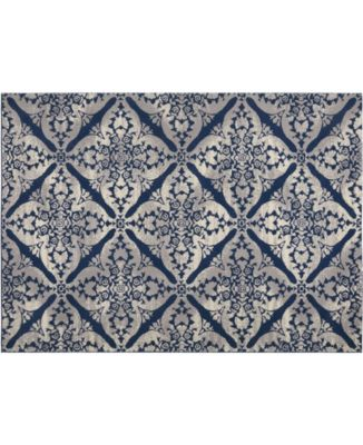 """Haven Hav12 Blue and Gray 3'3"""" x 5'2"""" Area Rug"""