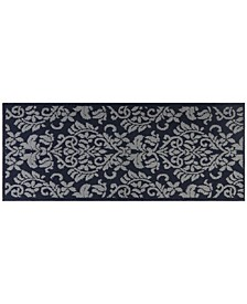 Rosewood Ellie 4A-Olrw02-382 Navy and Gray 2'X4'11 Runner Rug