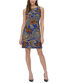 Dupre Paisley-Print Sheath Dress