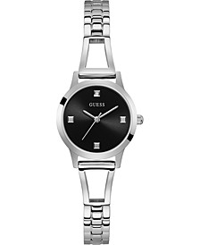 Women's Diamond-Accent Stainless Steel Semi-Bangle Bracelet Watch 27mm
