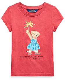 Toddler Girls Sparkler Bear Cotton T-Shirt