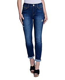 Roll Cuff Slim Straight Jean