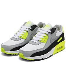 Men's Air Max 90 Leather Running Sneakers from Finish Line