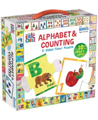 Briarpatch the World Of Eric Carle - Alphabet Counting 2-Sided Floor Puzzle - 26 Pieces