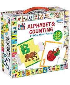 the World Of Eric Carle - Alphabet Counting 2-Sided Floor Puzzle - 26 Pieces