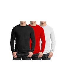 Men's 3-Pack Egyptian Cotton-Blend Long Sleeve Crew Neck Tee