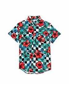 Men's Floral Check Shirt V2