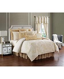 Farrah 4 Piece Comforter Set, Queen