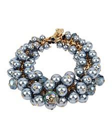 New York Shaky Imitation Pearl Cluster Toggle Bracelet
