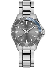 Unisex Swiss Khaki Scuba Stainless Steel Bracelet Watch 37mm
