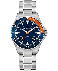 Men's Swiss Automatic Scuba Stainless Steel Bracelet Watch 40mm