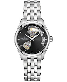 Women's Swiss Automatic Jazzmaster Open Heart Stainless Steel Bracelet Watch 36mm