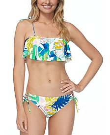 Juniors' Palm Springs Flounce Bikini Top & Bikini Bottoms