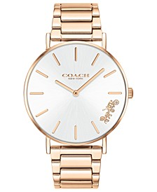 Women's Perry Rose Gold-Tone Stainless Steel Bracelet Watch 36mm
