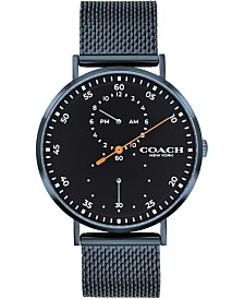 Men's Charles Blue Stainless Steel Mesh Bracelet Watch 41mm